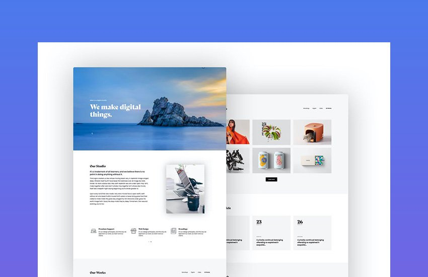 Misto - One Page Portfolio Template
