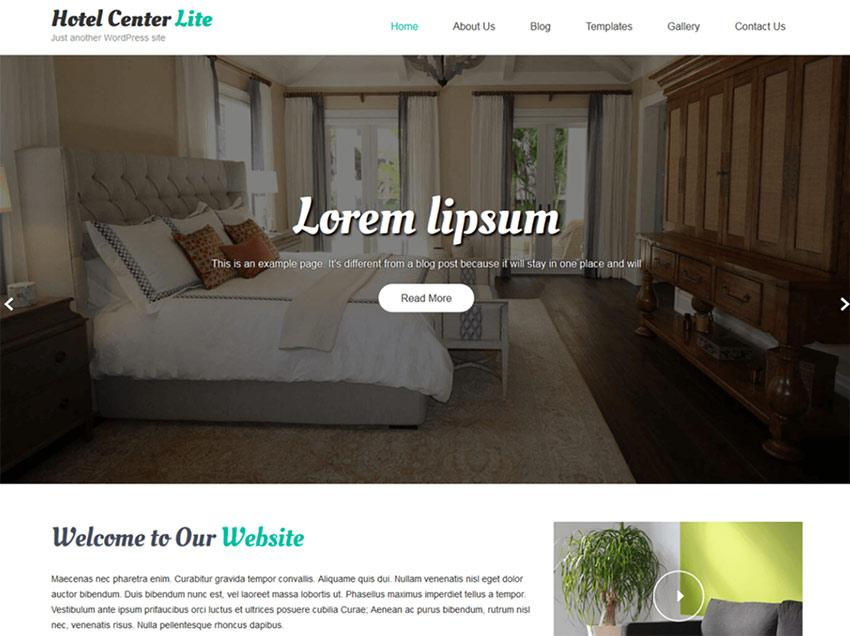 Hotel Center Lite - Free Hotel WordPress Theme