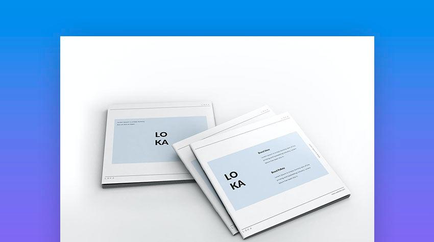 Company Branding Square Brochure Template