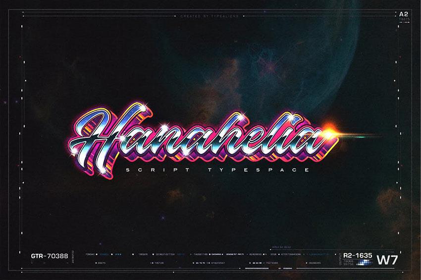Hanahelia 80s Retro Font