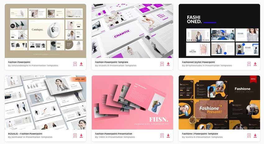 unlimited downloads of the best fashion PowerPoint templates