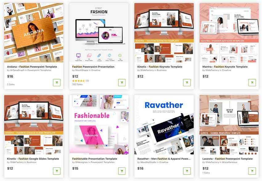 premium fashion PPT templates one at a time