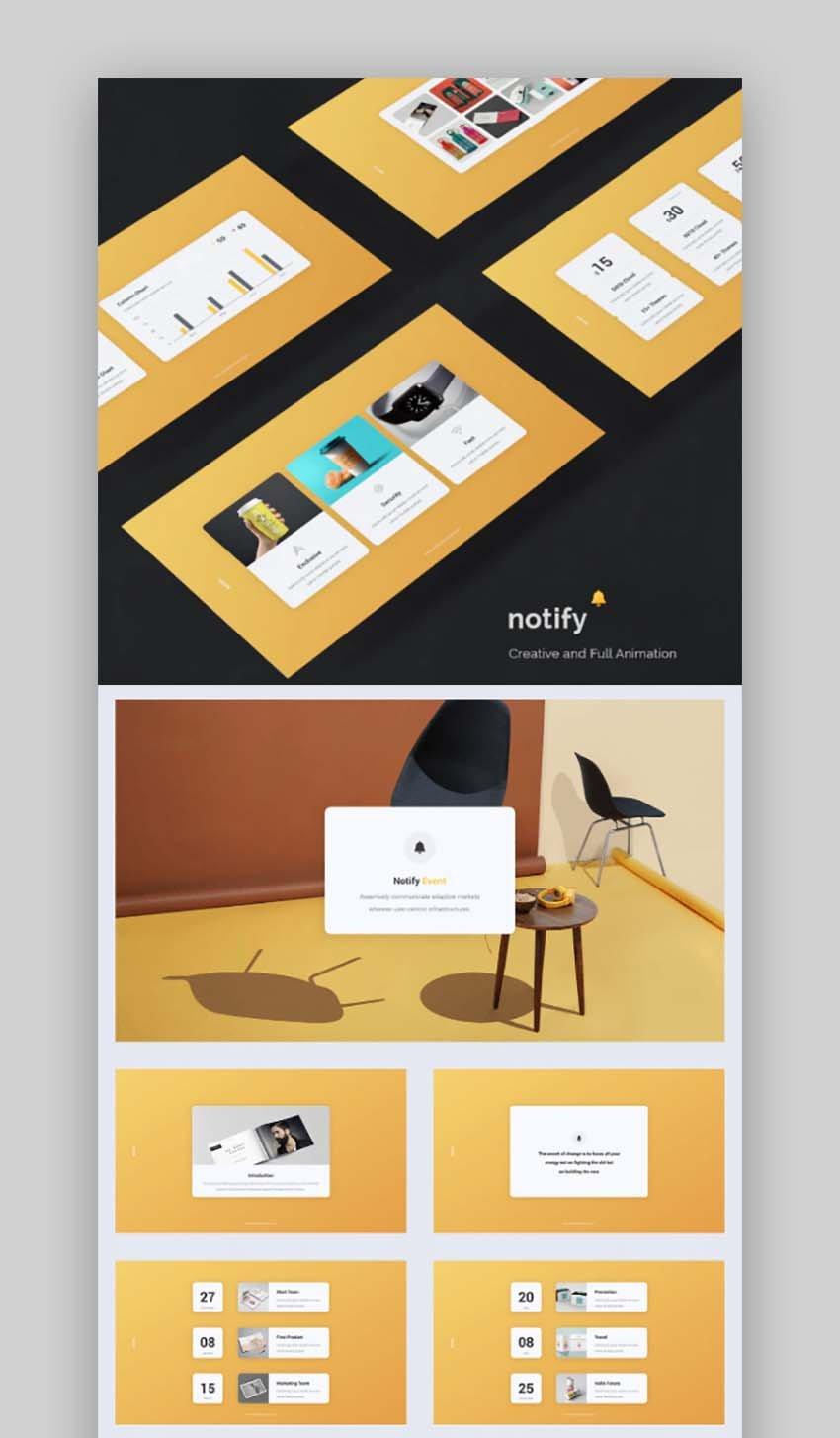 Notify - Animated  Creative Presentation Template