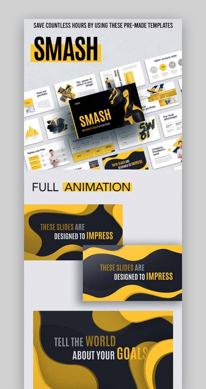 Smash Animated Keynote Effects Template
