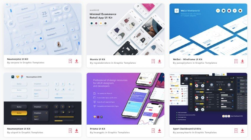 The best Figma wireframe kits are on Envato Elements