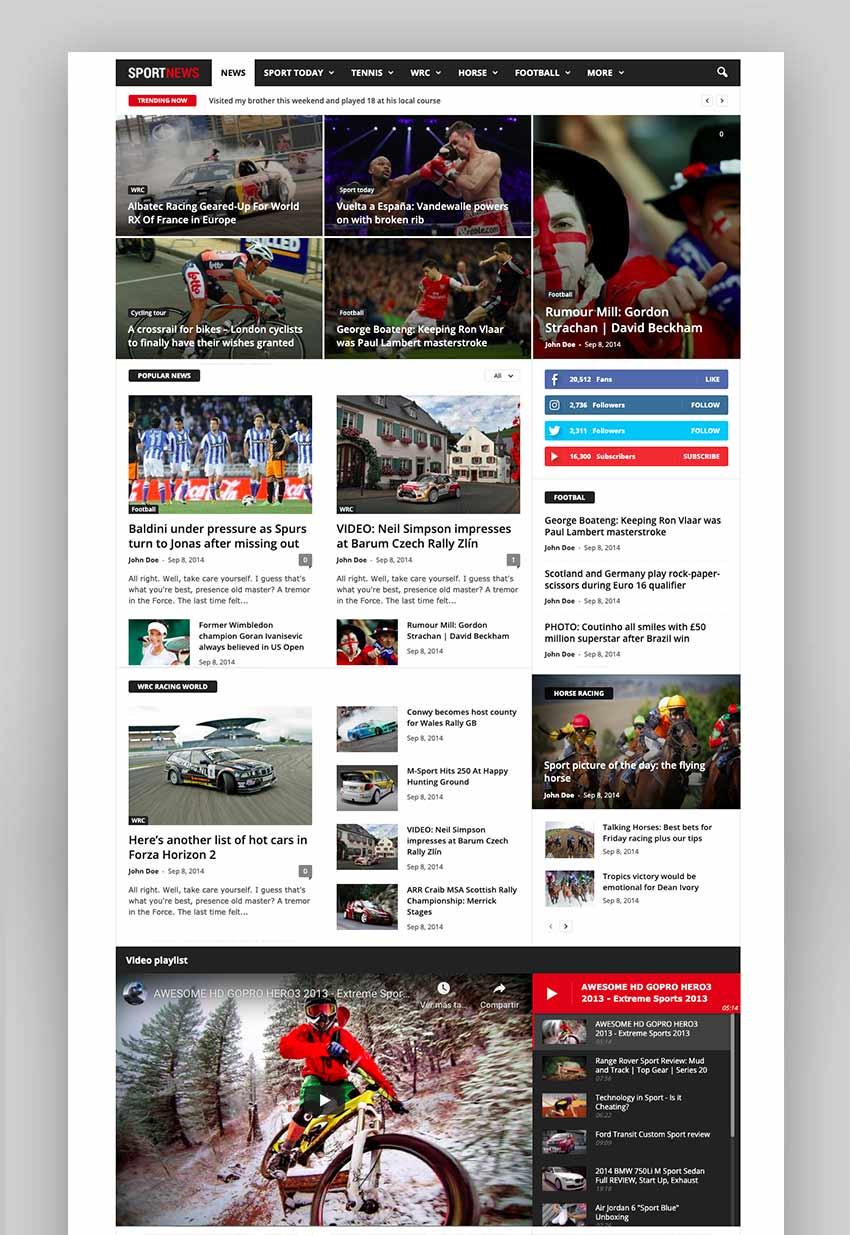 Newsmag - Newspaper  Magazine WordPress Theme