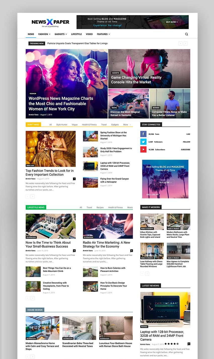 Newspaper WordPress News Template