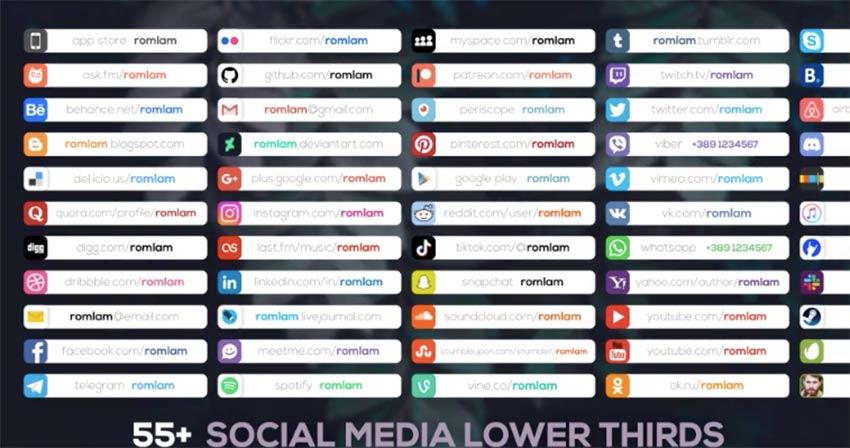 Clean Social Media Lower Thirds