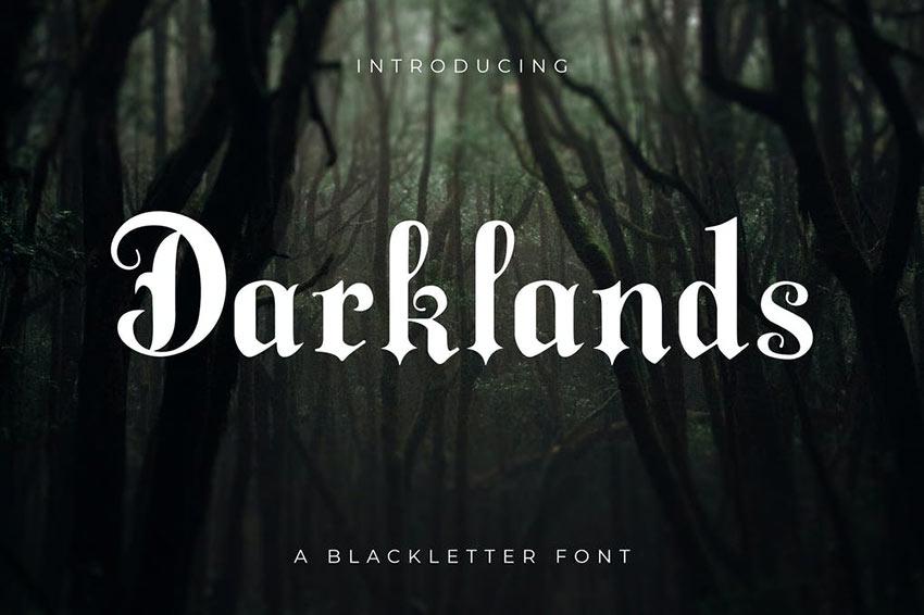 Darklands - A Blackletter Font
