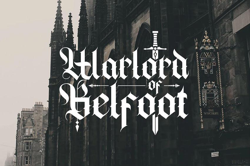 Cambridge - Bold Decorative Gothic Font