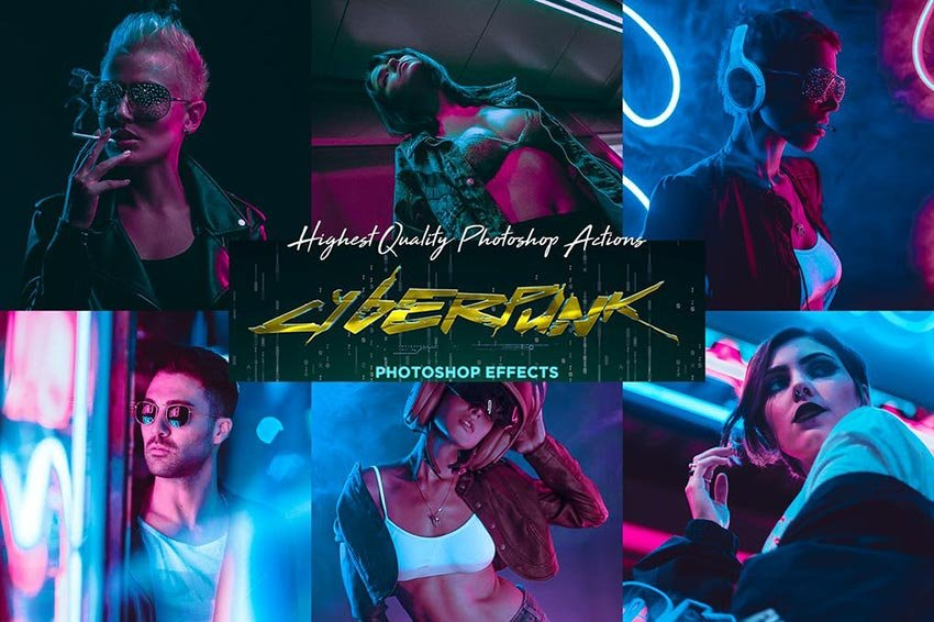 CyberPunk PRO Photoshop Actions