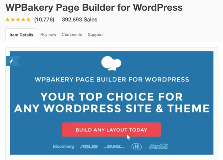 WPBakery Page Builder on CodeCanyon
