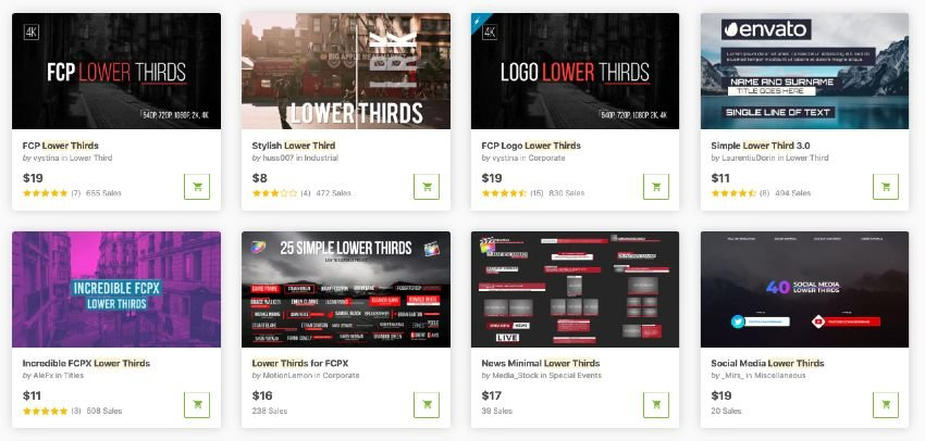 best single-purchase lower third templates for Final Cut