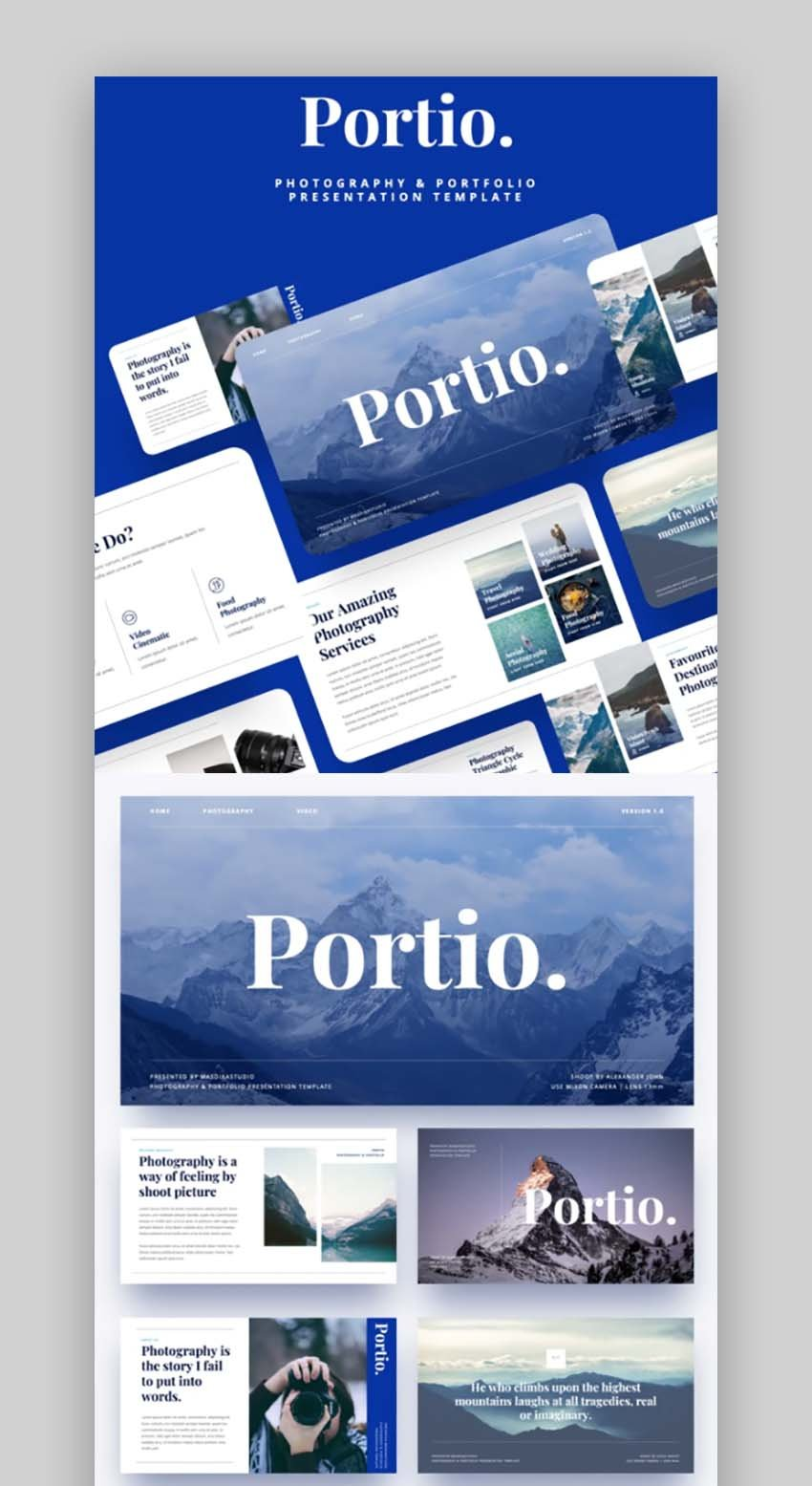 Portio - Photography Powerpoint Template