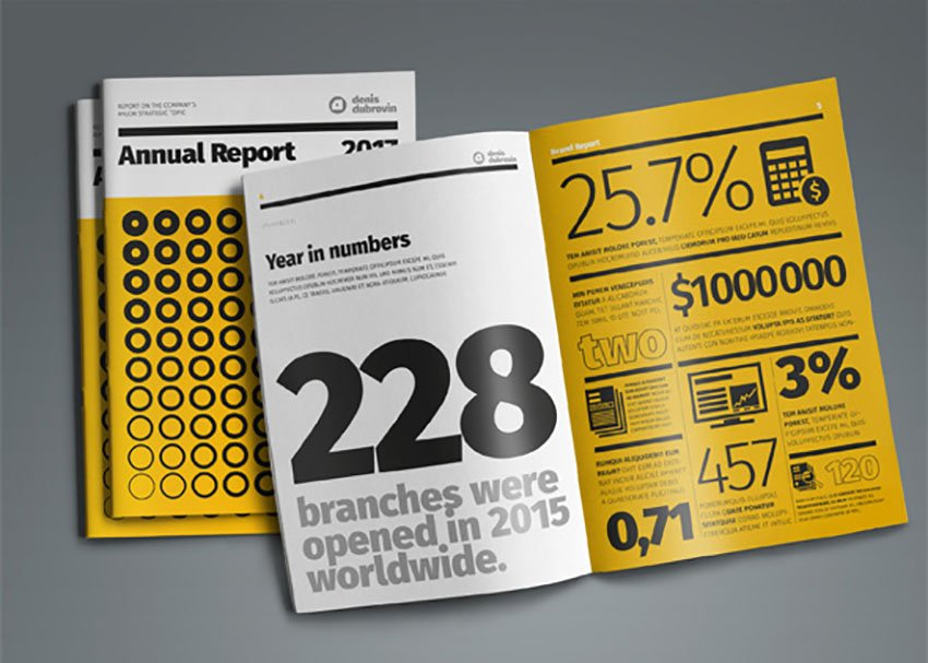 Annual Report Design with data