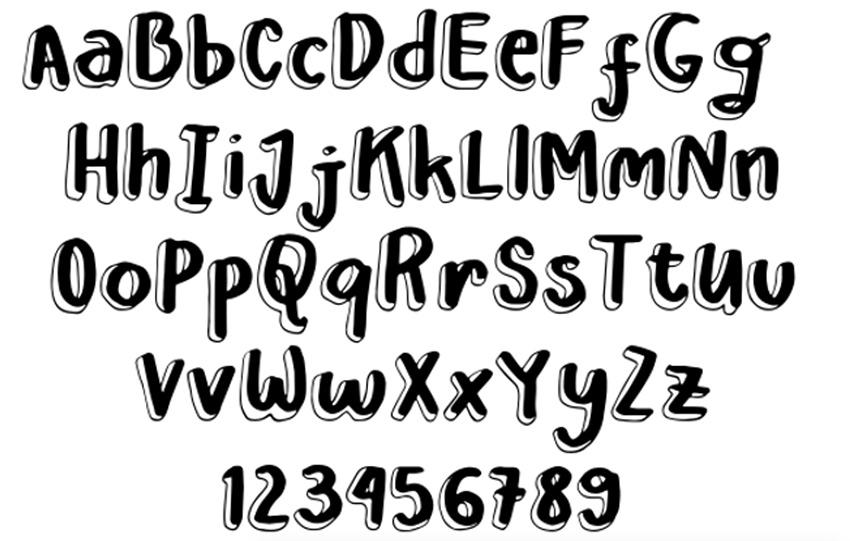 Leah Gaviota Double: Free Decorative Cricut Fonts
