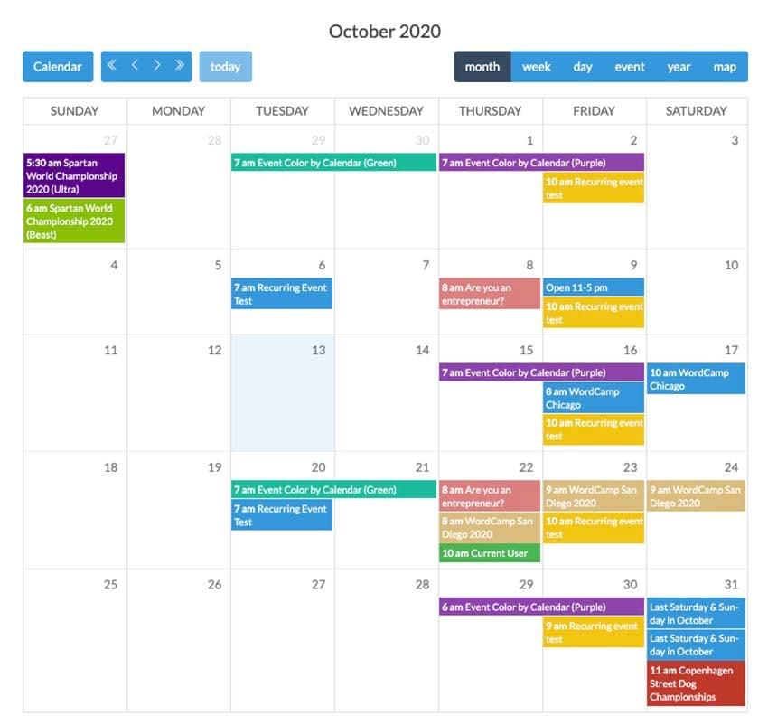 Calendarize it para WordPress