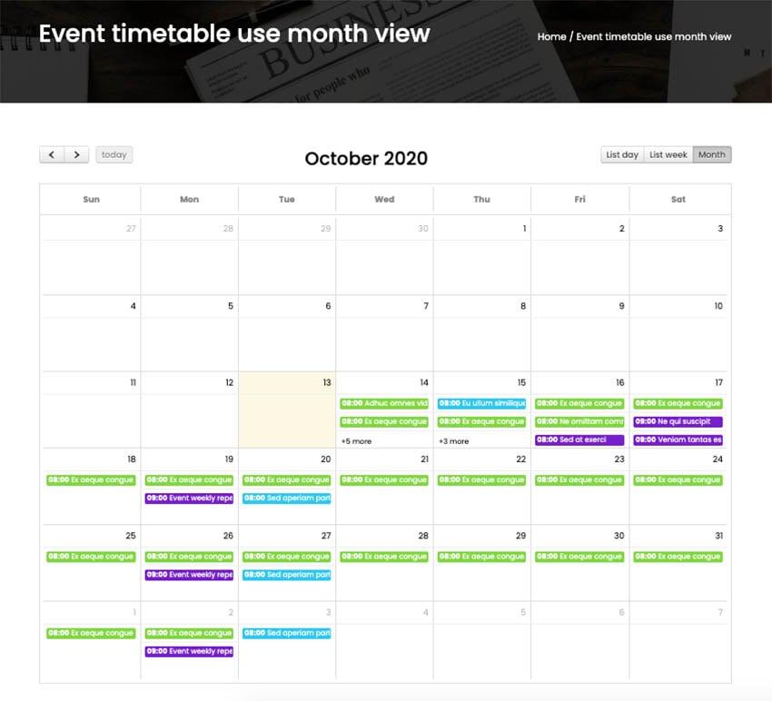 FAT Event - WordPress Event and Calendar Booking