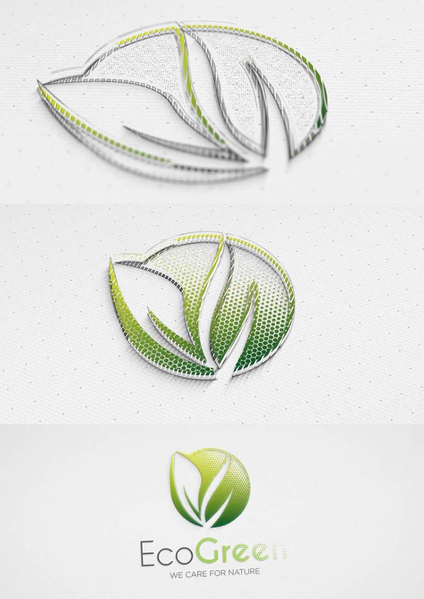 Dots 3D Logo Reveal