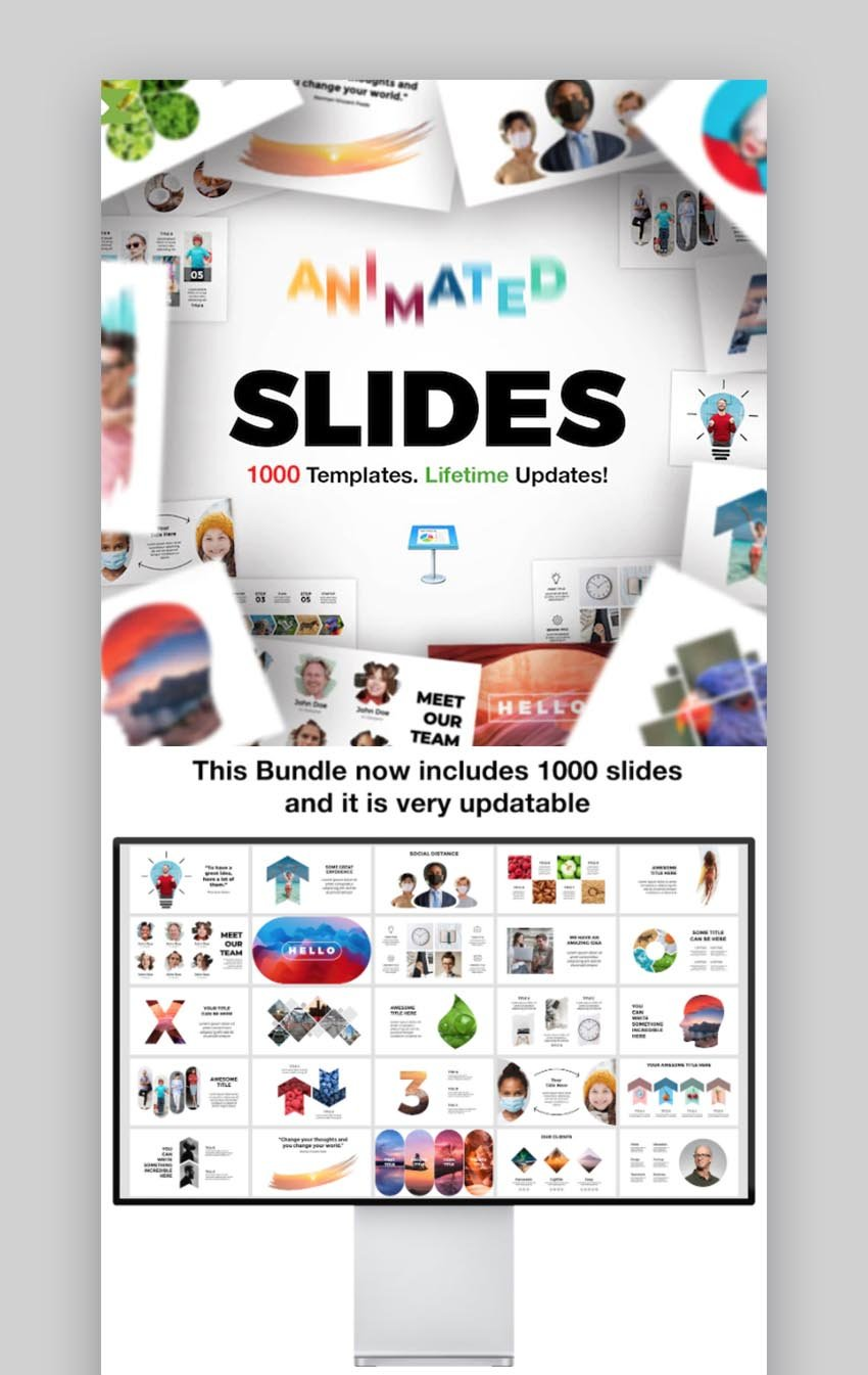 Paket mit animierten Folien für Keynote-Präsentationen