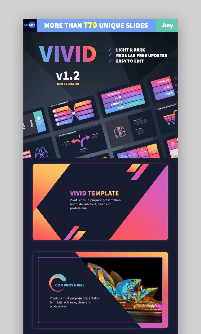 VIVID Keynote Business Presentation Template