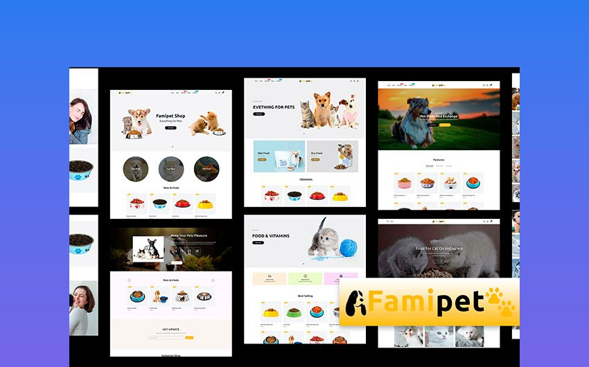 Famipet - Online Pet Food Stores Shopify Theme