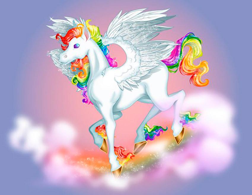 Create a Lisa Frank Inspired Colorful Pegasus in Adobe Illustrator