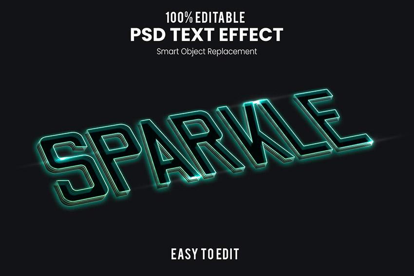 Sparkle Text Effect (PSD)