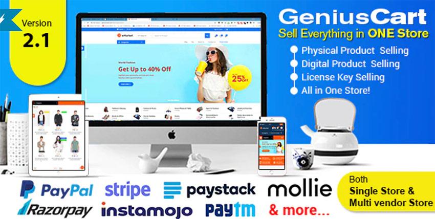 GeniusCart - PHP Shopping Cart eCommerce System