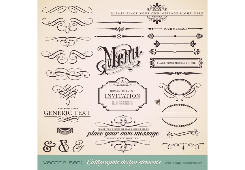 Calligraphic Vintage Vector Graphics