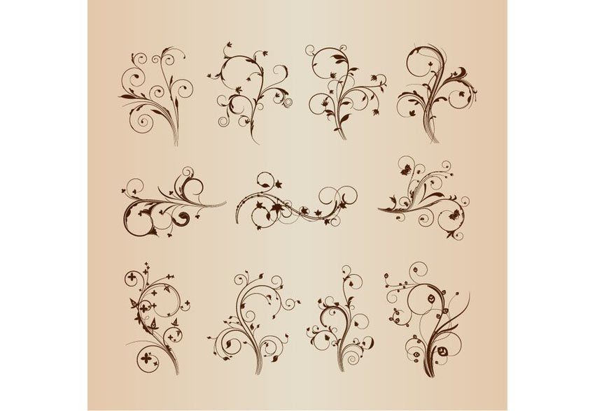 Free Swirling Vector Flourishes