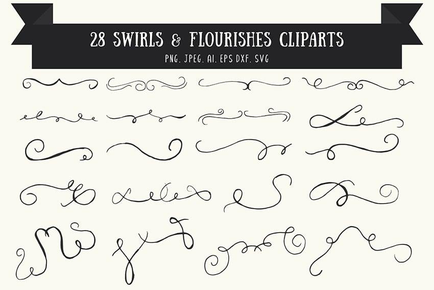 Vintage Swirl and Flourish Vector