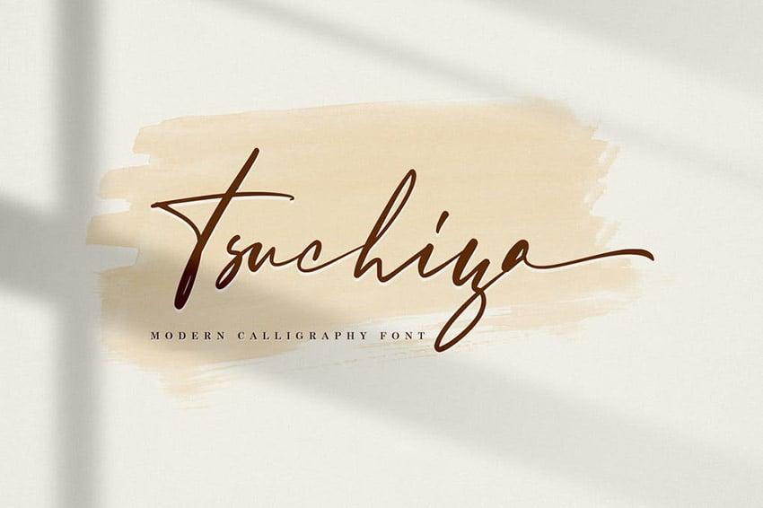 Tsuchiya Calligraphy Fancy Alphabet Font Download