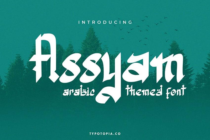 Assyam Arabic Font Style Download