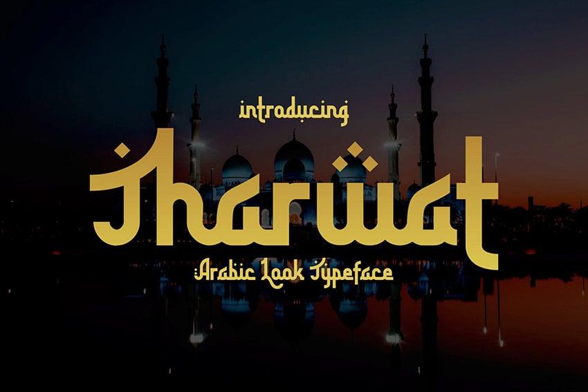 Tharwat Arabic Looking Font