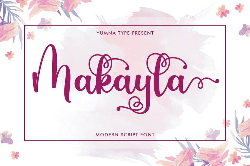Cursive Hand Lettering Fonts From Envato Elements Makayla Script Typeface