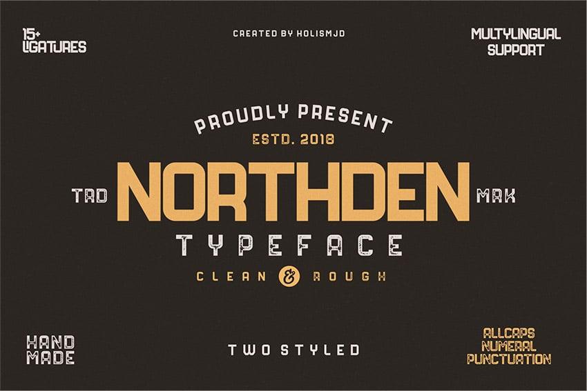 Northden Creative Industrial Typeface Font Download