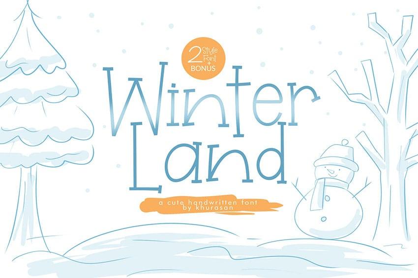 WinterLand Cute Fun Font Download