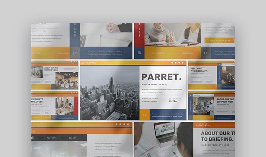 Parret Modern Format PPT Template