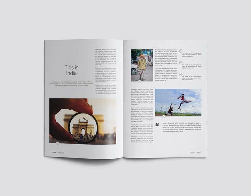 Magazine Creative Page Layout Design