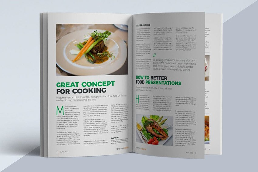 Creative Magazine Article Layout Template