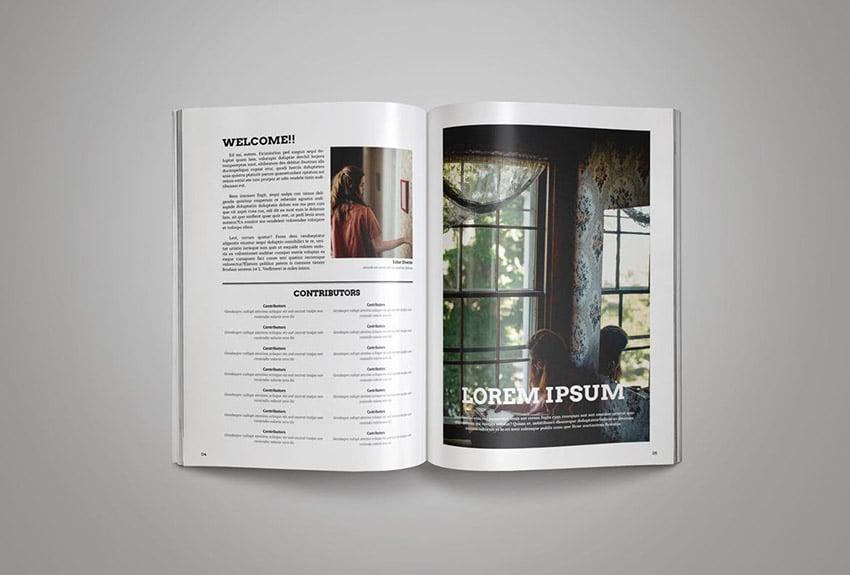 Creative Magazine Template With Modern Magazine Spreads