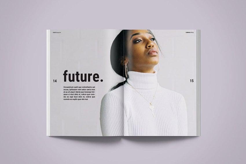 Fight Modern Magazine Layout