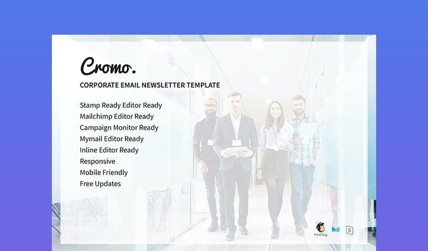 Cromo Corporate Mailchimp Design Newsletter