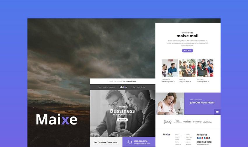 Maixe Email Newsletter Design