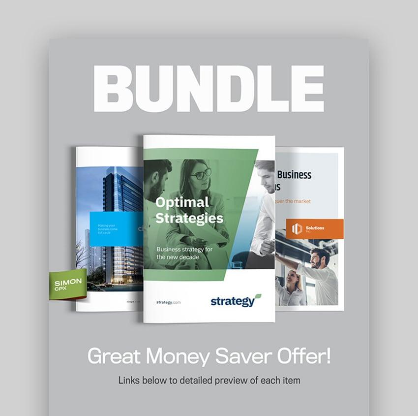 InDesign Brochure Template Bundle Vol 4
