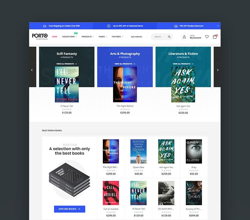 Porto Responsive Shopify eCommerce Website