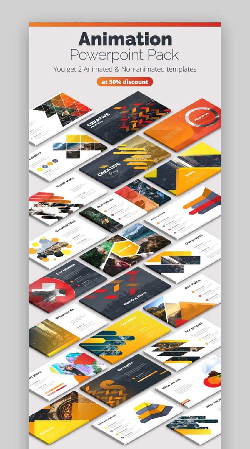 Creative PowerPoint Theme Design With Infographics for Cool PowerPoint Ideas