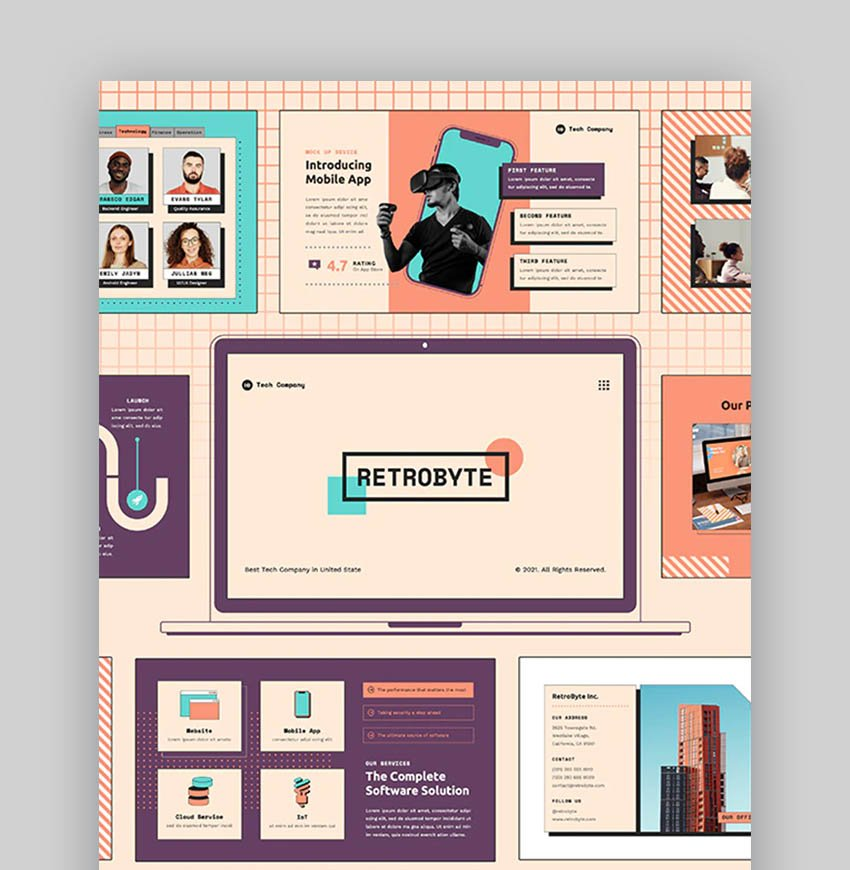 RetroByte Creative PPT Slides for Your Creative PowerPoint Presentation Ideas