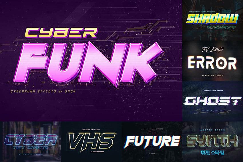 Cyberpunk Neon Text Effect Photoshop